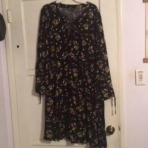Black Challis Dress